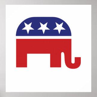 Republikeinse Originele Olifant Poster