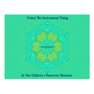 #Resist beschermt de anti-Troef Mandala van het Briefkaart