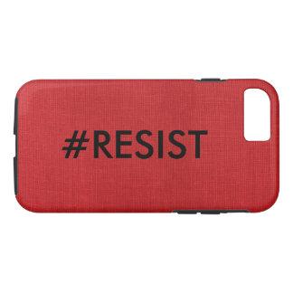 #Resist, zwarte tekst op de Rode Foto van het iPhone 7 Hoesje