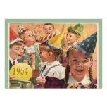 Retro 60ste Geheugen van de Kinderjaren van de Par Persoonlijke Aankondigingen