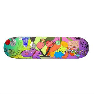 Retro Abstract Skateboard