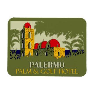 Retro advertentie van de het hotelreis van Palermo Magneet
