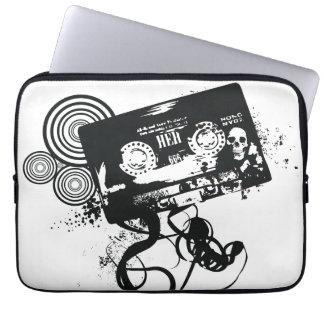 Retro AudioBand Grunge & Schedel Laptop Sleeve