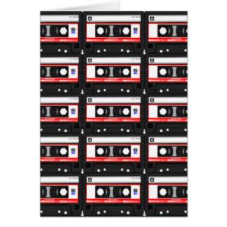 Retro band van de de jaren '80cassette wenskaart