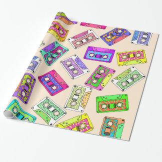 Retro Banden van de Cassette van de jaren '90 van Cadeaupapier
