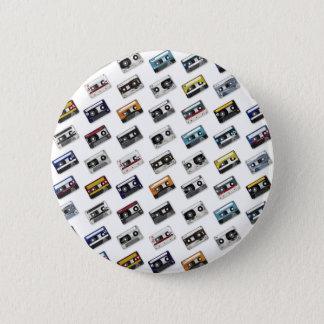 Retro Banden van de Cassette van de Muziek Ronde Button 5,7 Cm