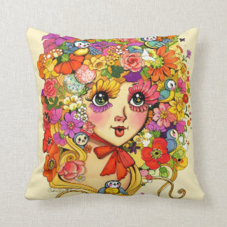 Retro Bloem van Shoujo Japan Dame Pillow Sierkussen