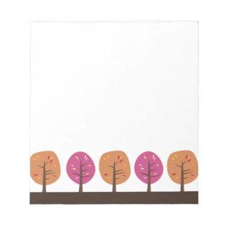 Retro Bomen van de Herfst Notitieblok