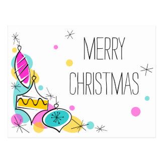 Retro briefkaart van Kerstmis van de Hoek van de
