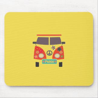Retro Bus Mousepad van de Hippie Muismat