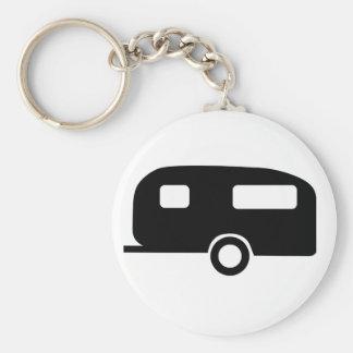 Retro Caravan Basic Ronde Button Sleutelhanger