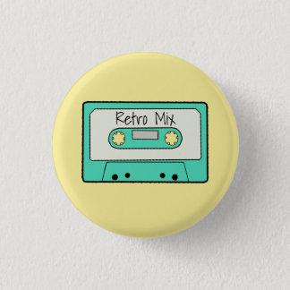 Retro Cassette Ronde Button 3,2 Cm