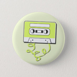 Retro Casssette Ronde Button 5,7 Cm