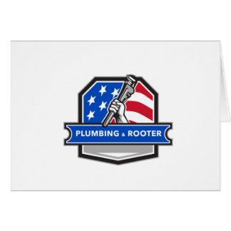 Retro CREST van de Vlag van de V.S. van de Briefkaarten 0
