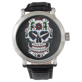 Retro Dag Grunge van de Dode Schedel van de Suiker Horloge