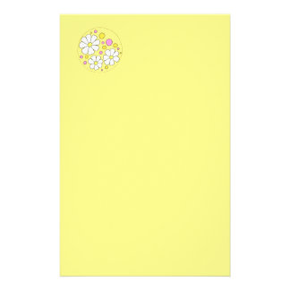 Retro Daisy Flowers Stationery Briefpapier
