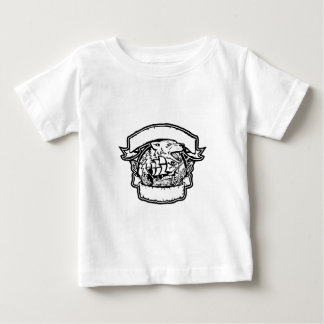 Retro de Banner van het Schip van de Piraat van de Baby T Shirts