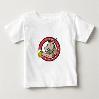 Retro de Cirkel van de Drinker van het Bier van de Baby T Shirts