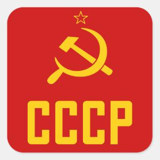 Retro de jaren '80Stickers van de USSR CCCP Vierkante Sticker