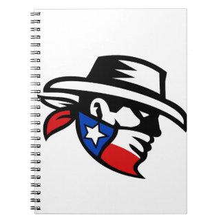 Retro de Kant van de Cowboy van de Bandiet van Notitieboek
