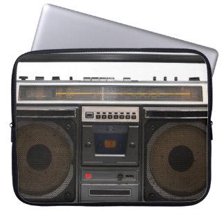 retro de muziek hipster stereoband van de laptop sleeve
