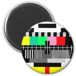 Retro de testscherm van kleurenTV Magneet