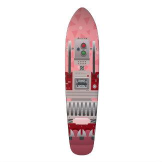 Retro dek van het Schaats van de Robot 21,6 Cm Skateboard Deck