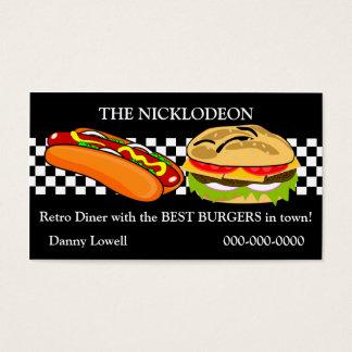 Retro Diner Visitekaartje Visitekaartjes
