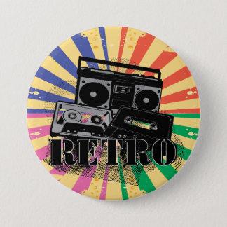 Retro doos en de cassettes van de stijlboom ronde button 7,6 cm