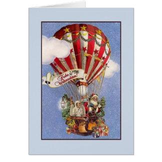 Retro Duitse Kerstkaart van Frohe Weihnachten Briefkaarten 0