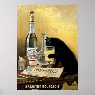 """Retro Frans poster """"alsembourgeois """""""
