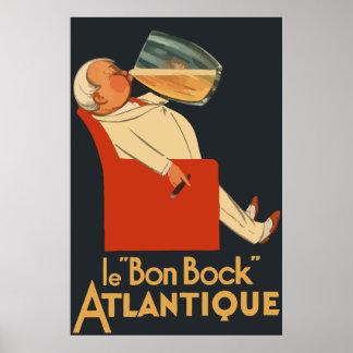 Retro Franse advertentie Le Bon Bock van het bier Poster