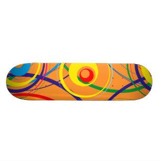 Retro Funky Ontwerp van de Cirkel Skateboard Deck