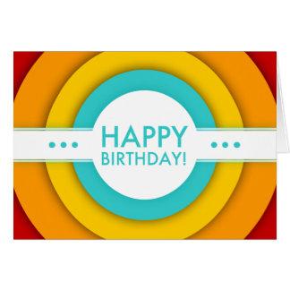 retro gelukkige verjaardag kaart
