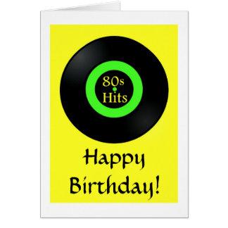 Retro Gelukkige Verjaardag van de verjaardagskaart Wenskaart