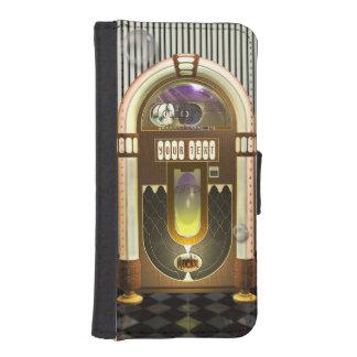 Retro Gepersonaliseerde Juke-box van de Muziek iPhone 5 Portemonnee Cases