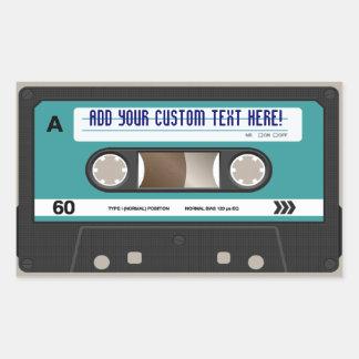 Retro Gepersonaliseerde Sticker van de Band van de