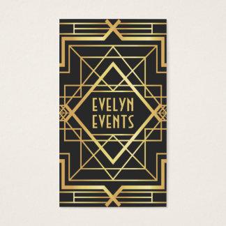 Retro gewaagde zwarte en gouden patroon van het visitekaartjes