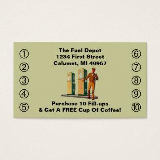 Retro glimlach van de Dienst Benzinepompen van de Visitekaartjes