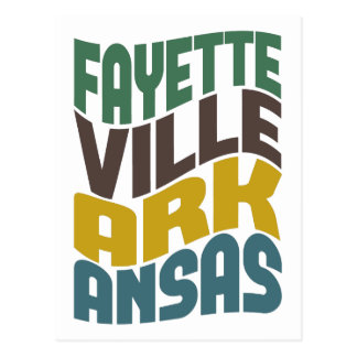 Retro Golf van Arkansas van Fayetteville Briefkaart