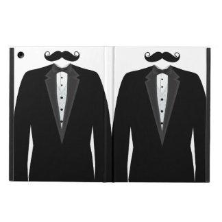 Retro Grappige M. Mustache Tuxedo Groom iPad Air Hoesje
