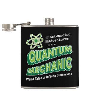 Retro Grappige QuantumWerktuigkundigen van Geek Heupfles