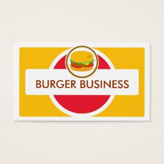 Retro heldere hamburgervisitekaartjes visitekaartjes