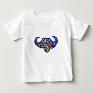 Retro het Hoofd van de Buffels van de kaap Baby T Shirts