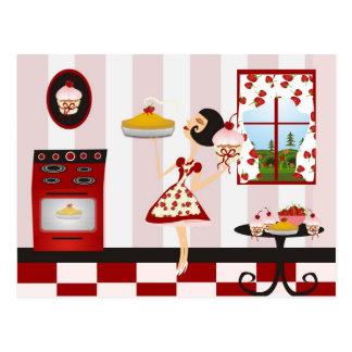 Retro het Koken van het Huis Recept Briefkaart