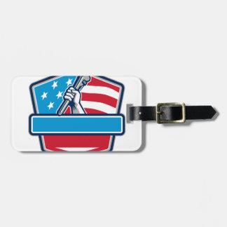 Retro het Schild van de Vlag van de V.S. van de Kofferlabel
