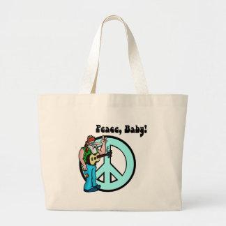 Retro hippie-Vrede jaren '60 van het Baby Draagtas