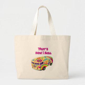 retro hippiebestelwagen hoe ik rol tas