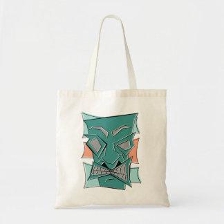 Retro Hoekige Canvas tas van het Masker Tiki