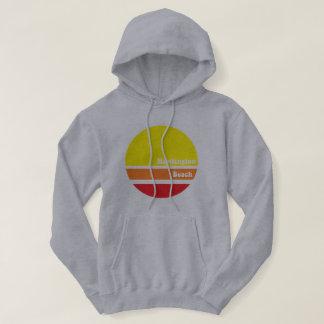 Retro hoodie van het Strand van Huntington